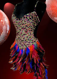 carnival costumes for sale sequin top and rainbow feathered skirt dress mardi gras