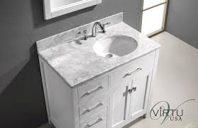 bathroom vanity with sink on right side virtu usa caroline parkway single 36 9 inch left sided