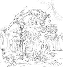 tree house coloring pages coloring page rug hook paper pattern