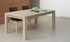 table de cuisine en bois avec rallonge table rectangulaire avec rallonge table salle a manger bois brut