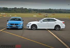 lexus isf tyres volvo s60 polestar vs lexus is f comparison review video