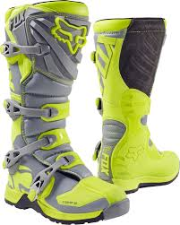 100 dirt boot fox yellow grey 2017 comp 5 mx boot fox