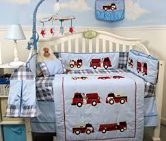 Firefighter Crib Bedding Soho Trucks Baby Crib Nursery Bedding Set 13 Pcs