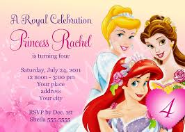 nice princess birthday party invitations template 41 on hd image