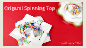 christmas crafts origami top origami spinning top toy paper