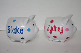 piggy bank party favors personalized ceramic mini piggy bank party favor by heaneydesigns