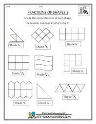 Free Printable Shapes Worksheets Fraction Shape Worksheets Math Pinterest Shapes Worksheets