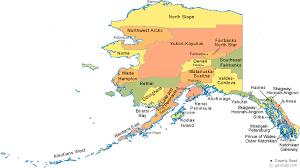 map of alaska cities alaska borough map