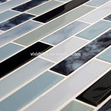 wholesale peel and stick marble look tiles kitchen backsplash wall