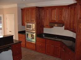 simple kitchen style with wooden prefab kitchen cabinet black