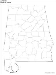 Map Of Usa States With Names by Blank Alabama County Map For Kids To Color