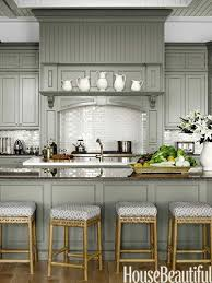 Benjamin Moore Paint For Cabinets by Cabinets In Sea Pearl And Revere Pewter By Benjamin Moore