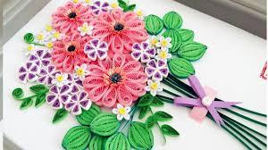 Paper Flowers Video - paper quilling flower for beginner learning video 9 paper flower
