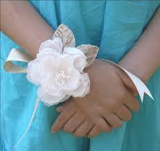 corsage wristlet blush pink corsage wrist corsage wedding corsage wristlet