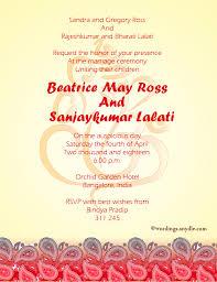 wedding invitation wordings indian wedding invitation wording sles wordings and messages