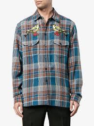 gucci needlepoint plaid shirt shirts browns fashion