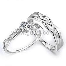 engraved engagement rings images Personalized best engagement rings set for man and woman jpg
