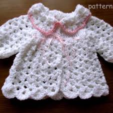 baby girl crochet crochet baby cardigan pattern in 5 sizes from justpattern on etsy