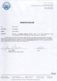 H Certification Letter Nc Deq Additional Approved Method And Parameter Information