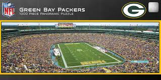 Green Bay Packer Flag Masterpieces 1 000 Piece Nfl Series Green Bay Packers Stadium Puzzle