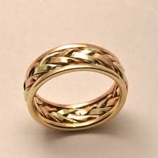 braided band items similar to braided in gold men s large wedding band