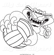 lion volleyball clipart 37