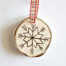 diy birch slice ornaments with wood burned design shelterness