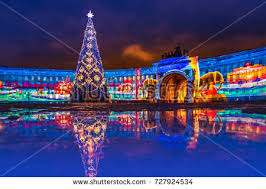 new year st petersburg decorated new year new year stock photo 727924534