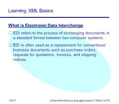 learning xml basics niitextensible markup language lesson 1 slide