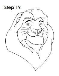 draw mufasa