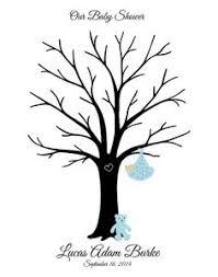 baby shower tree jungle baby shower fingerprint guest book poster safari