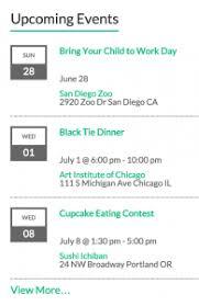 events calendar widgets the events calendar