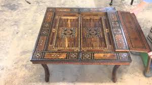 1913 inlay game table youtube