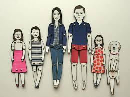 keepsake personalized paper dolls make an original family portrait
