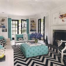 chevron rug living room jonathan adler designs a westchester house turquoise chevron rugs