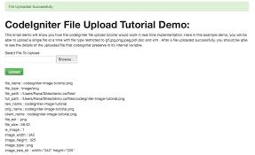 cara membuat form upload file dengan php codeigniter file upload tutorial with php code exles codeslez