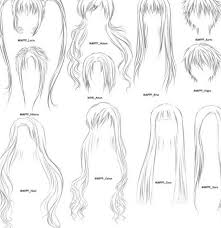 anime hair drawings pencil drawing collection