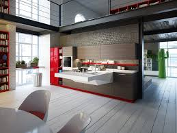 kitchen decor awesome modern design idea with luury wooden floor