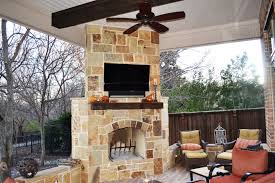 covered patio with fireplace patio cover allen tx dfw area texas custom patios