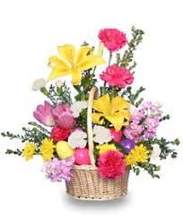 basket arrangements egg citing easter basket of fresh flowers basket arrangements
