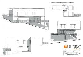 house plans sloped lot plans steep lot house plans