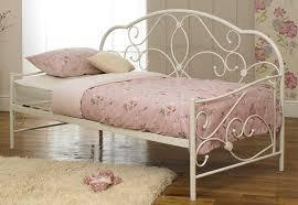 Single Metal Day Bed Frame Sareer White 3ft 90cm X 190cm Single Metal Day Bed