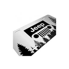 jeep logo black license plate ss w black jeep grille logo forest silhouette graphic