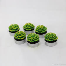 kgtech nice festival home decor cactus candles mini cute green