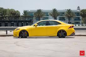 lexus f series yellow vossen wheels lexus is vossen cv3r