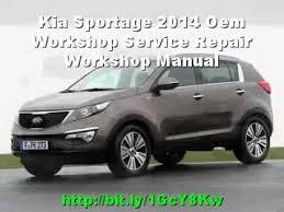 kia sportage 2014 oem workshop service repair workshop manual