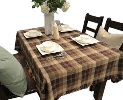 amazon com brown plaid country style tablecloths table cloths