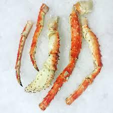 king crab legs wild caught in the bering sea off of alaska