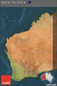 australia satellite map free satellite map of western australia darken