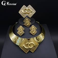 fashion jewelry gold necklace images Dubai gold color new fashion jewelry set bridal nigeria african jpg